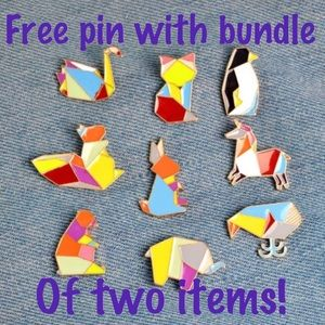 Free Pin With Bundle of Two Items!!!